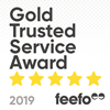Feefo Gold Trusted Award Logo