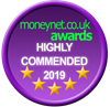 Moneynet.co.uk Highly Commended 2019 Award